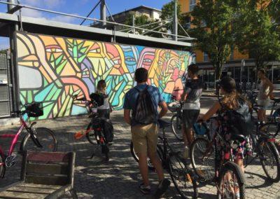 Bordeaux street art à vélo
