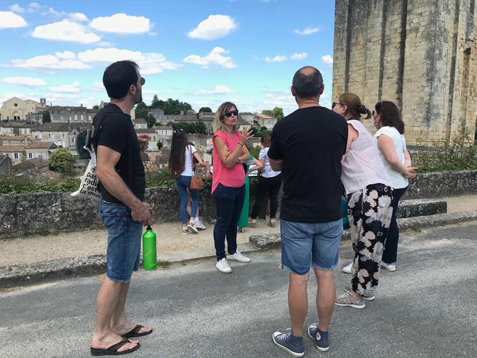 Visite de St Emilion, ses souterrains et verre de crémant